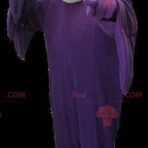 Purple and gray vulture bird mascot - Redbrokoly.com