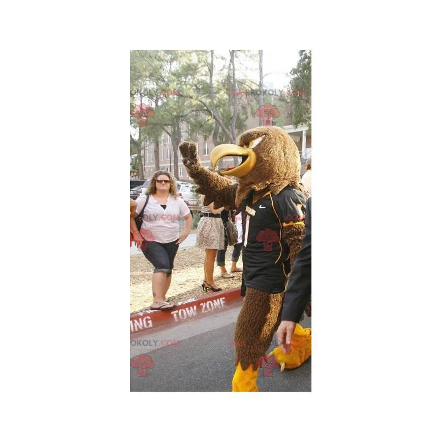 Brown and yellow eagle mascot - Redbrokoly.com