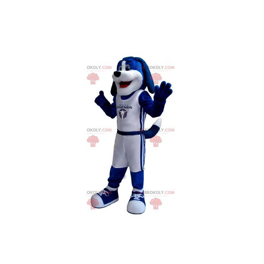 Blue and white dog mascot - Redbrokoly.com