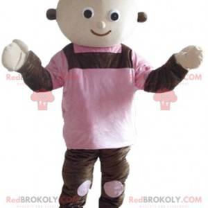 Obří hnědé a růžové panenky maskot - Redbrokoly.com