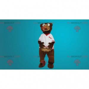 Brown bear mascot team supporter - Redbrokoly.com