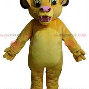 Mascot Simba, de beroemde leeuwenwelp in The Lion King -