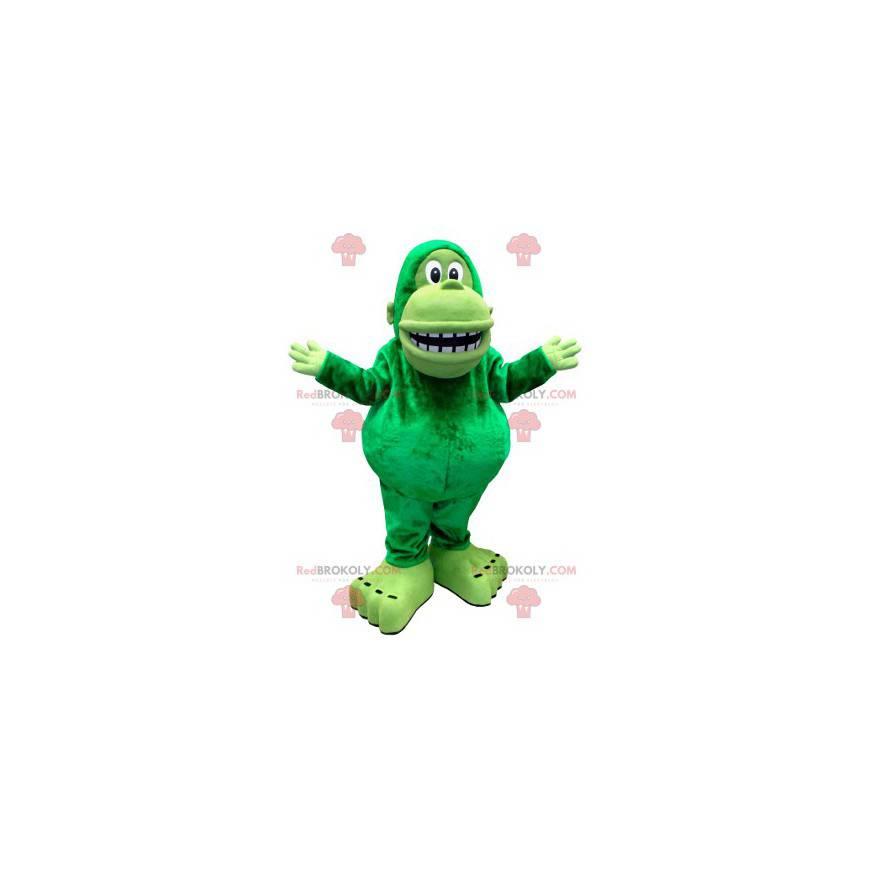 Obří zelená opice maskot - Redbrokoly.com