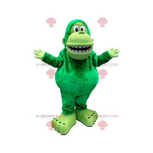 Kjempegrønn ape maskot - Redbrokoly.com