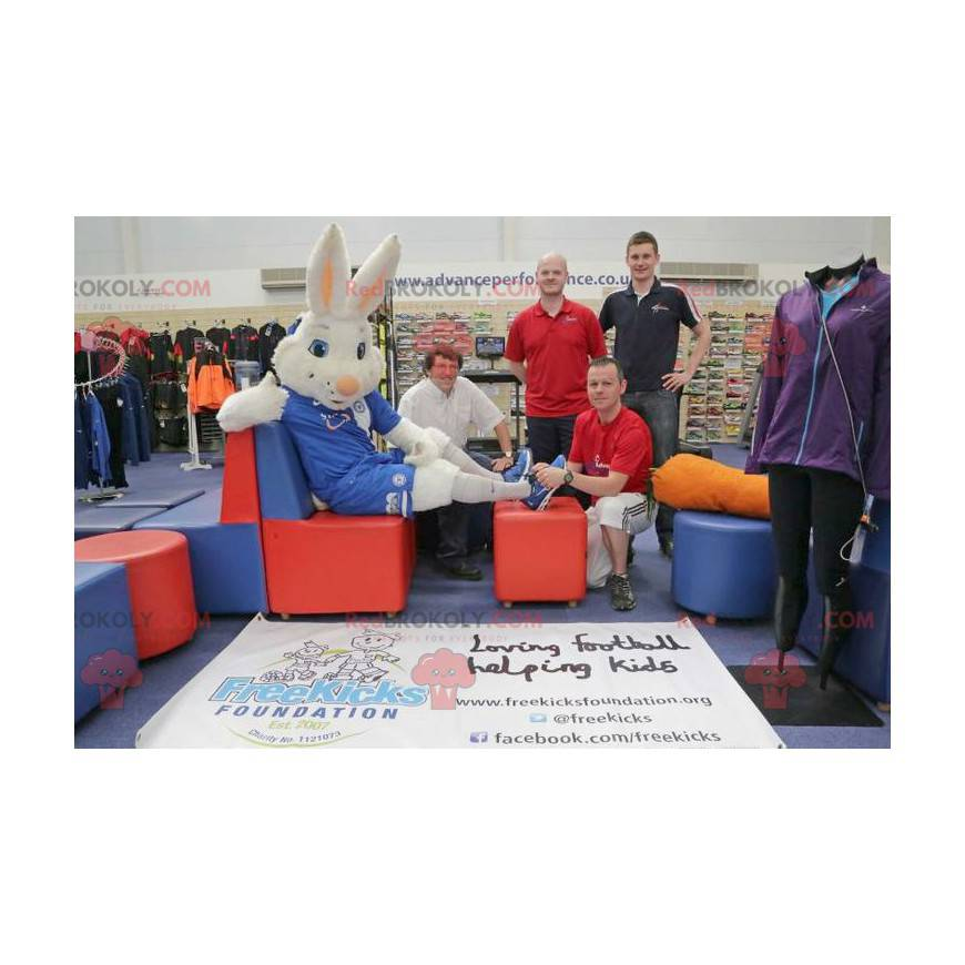 Strój maskotki białego królika do wsparcia - Redbrokoly.com