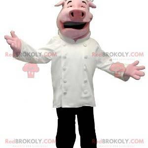 Schweinemaskottchen als Koch verkleidet - Redbrokoly.com