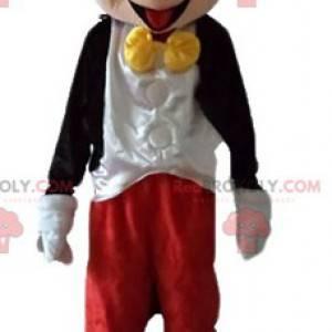 La mascota de Mickey Mouse famoso ratón de Walt Disney -