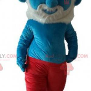 Grande puffo famoso personaggio dei fumetti mascotte -