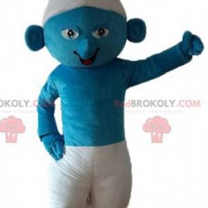 Mascote Smurf em quadrinhos azul e branco - Redbrokoly.com