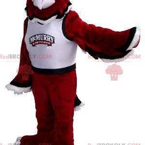 Czarno-biały czerwony orzeł maskotka - Redbrokoly.com