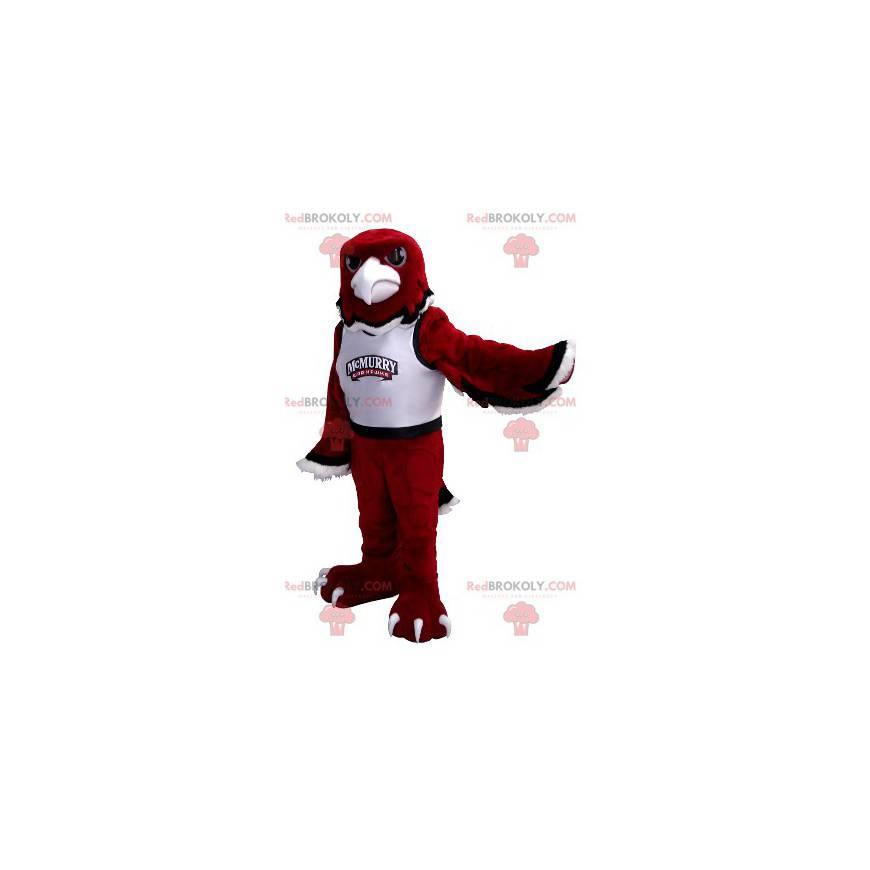 Černá a bílá červená orel maskot - Redbrokoly.com