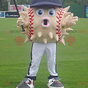 Piłka baseballowa maskotka diodon z czapką - Redbrokoly.com