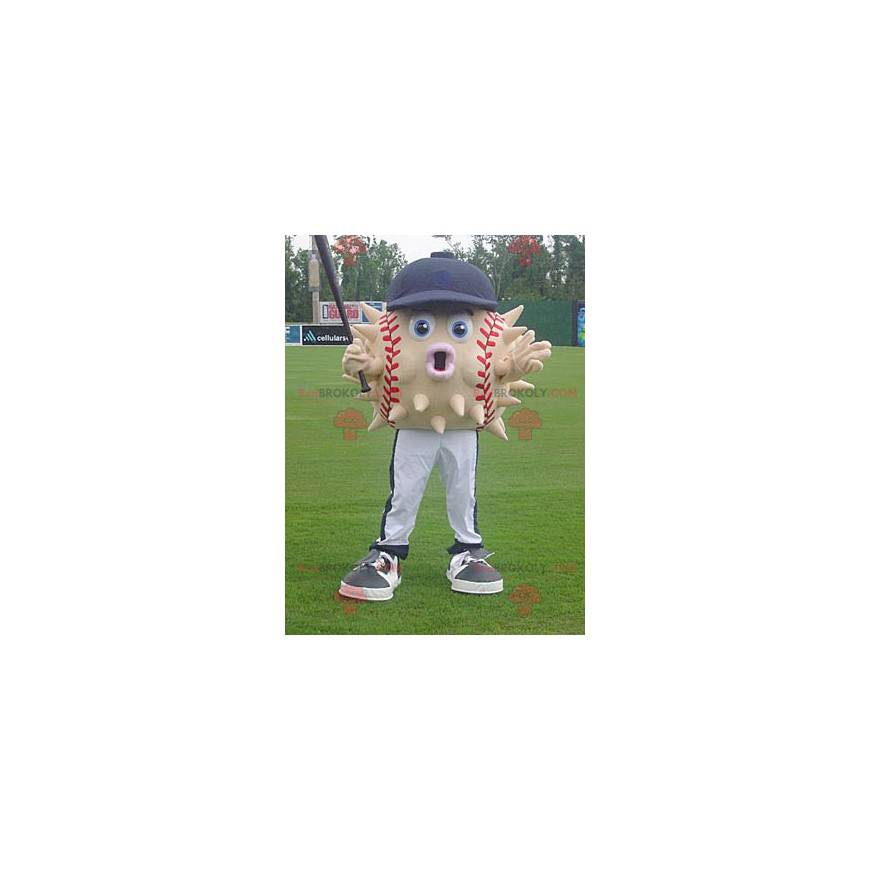 Baseball ball diodon mascot with a cap - Redbrokoly.com