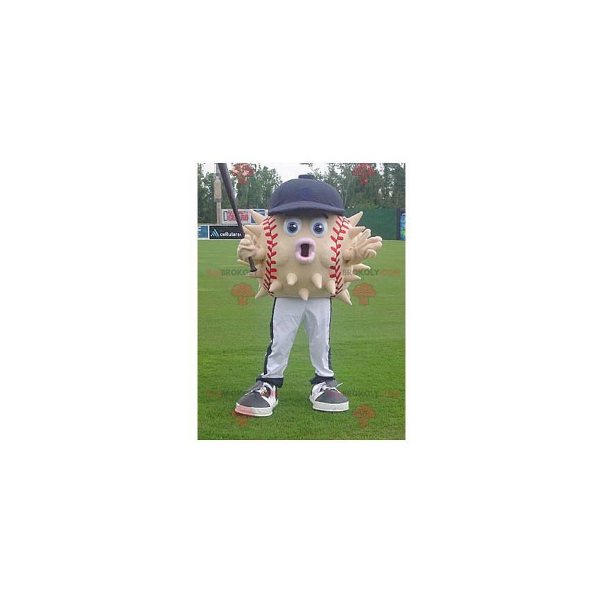 Maskot diodon baseballového míče s čepicí - Redbrokoly.com