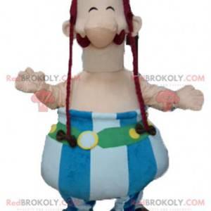 Mascote Obelix famoso personagem de desenho animado -