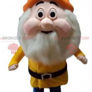 Mascota de enano barbudo de dibujos animados de Blancanieves -