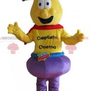 Kaptein Cosmo fremmed gul maskot - Redbrokoly.com