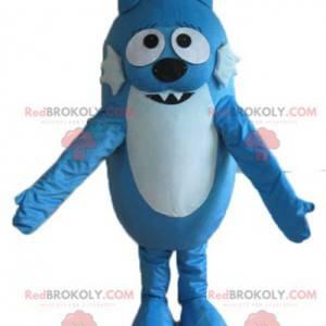 Dvoubarevný modrý pes kočka maskot - Redbrokoly.com