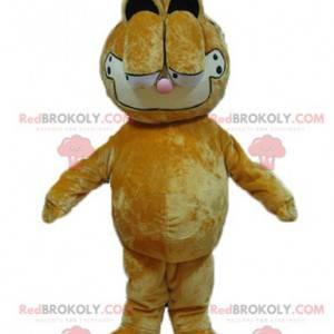 Garfield mascotte famoso cartone animato gatto arancione -