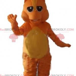 Orange and yellow dragon mascot - Redbrokoly.com