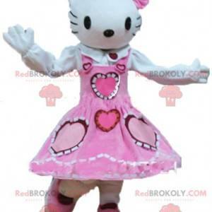 Mascotte Hello Kitty, de beroemde cartoon witte kat -