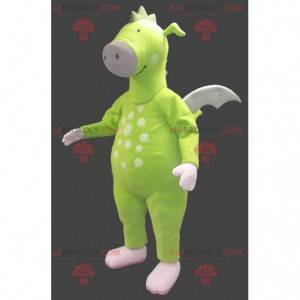 Neon green dragon mascot - Redbrokoly.com