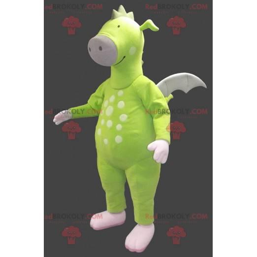 Neongrønn drage maskot - Redbrokoly.com