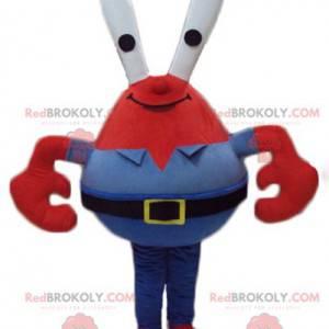 Mascote do Sr. Caranguejo famoso caranguejo vermelho em Bob