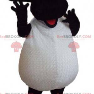 Desenho em preto e branco famoso mascote de shaun de ovelha -