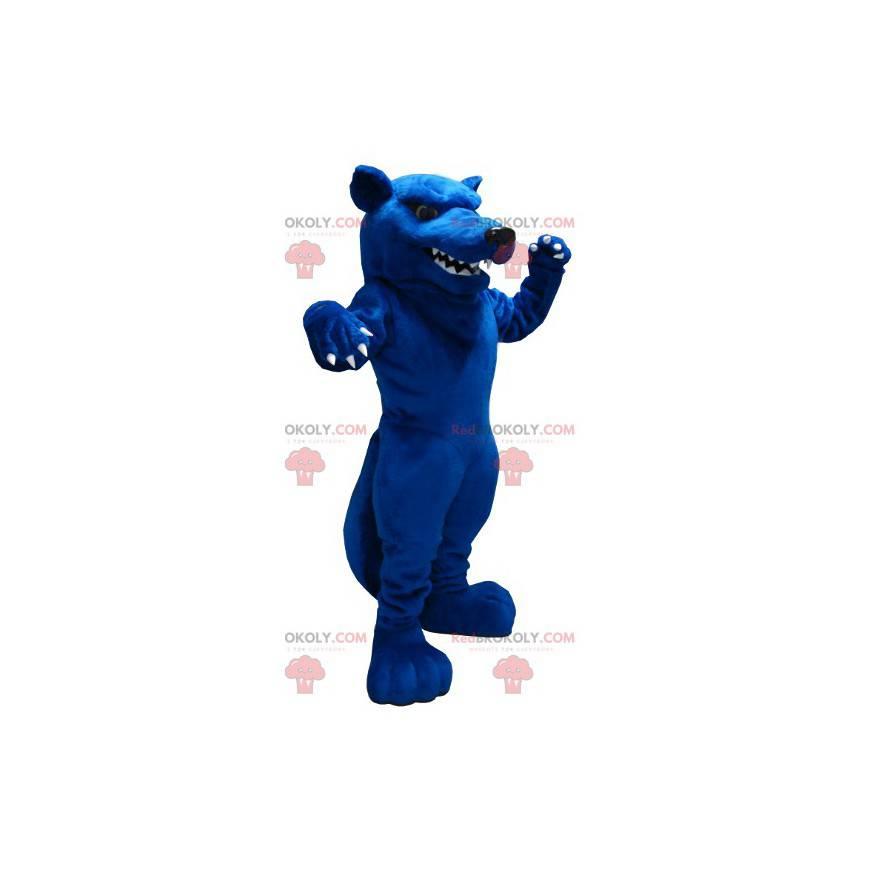 Gigantyczna niebieska maskotka szczura wyglądająca paskudnie -