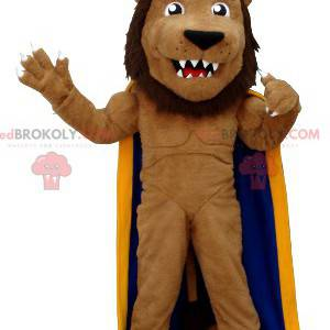 Maskot lva oblečený jako král - Redbrokoly.com