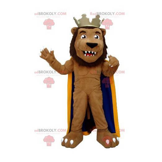 Lion mascot dressed as a king - Redbrokoly.com