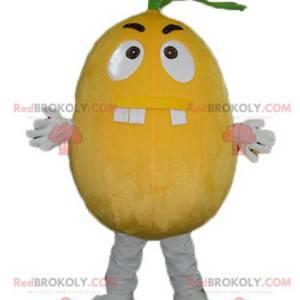 Gigantyczna maskotka z cytrynowo-pomarańczowym wyglądem -