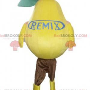 Very realistic giant yellow pear mascot - Redbrokoly.com
