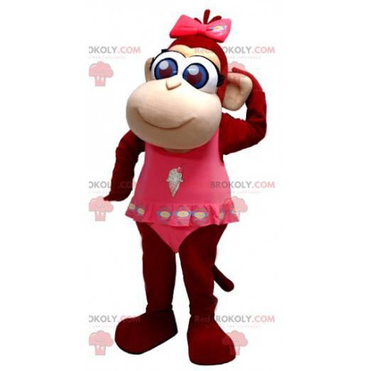 Mascot cute brown monkey with blue eyes - Redbrokoly.com