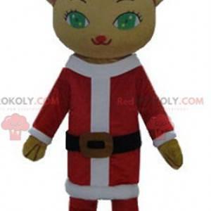 Teddybär-Maskottchen im Weihnachtsmann-Outfit - Redbrokoly.com