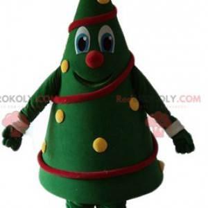Maskottchen geschmückter Weihnachtsbaum sehr lächelnd und bunt