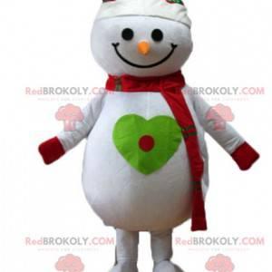 Sehr lächelndes großes Schneemannmaskottchen - Redbrokoly.com