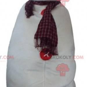 Obří bílý sněhulák maskot - Redbrokoly.com