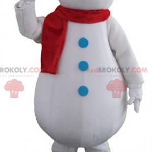 Giant and smiling white snowman mascot - Redbrokoly.com