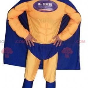 Superheldenkostüm im blau-gelben Outfit - Redbrokoly.com