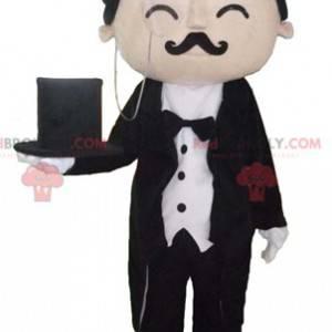 Gut gekleidetes Butler Butler Maskottchen - Redbrokoly.com