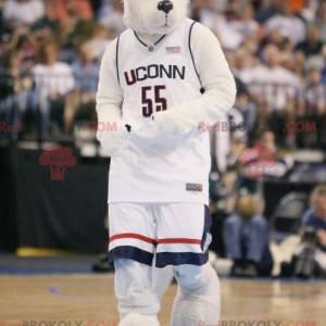 Maskot bílý a černý vlk - Redbrokoly.com