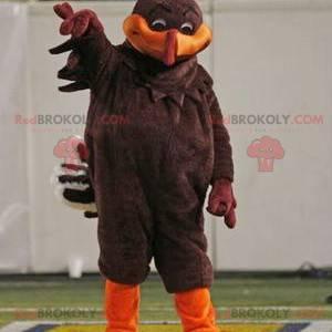 Maskotka brązowy i pomarańczowy ptak - Redbrokoly.com