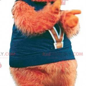 Orange yeti hairy man mascot - Redbrokoly.com