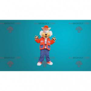 Søt ulvemaskott kledd som en tenåring - Redbrokoly.com