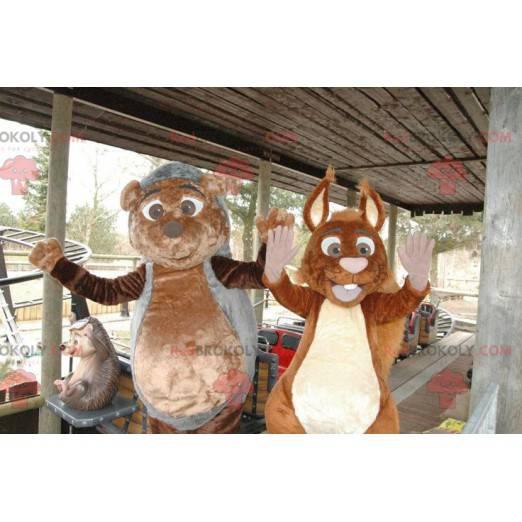 Igel- und Eichhörnchenmaskottchen - Redbrokoly.com