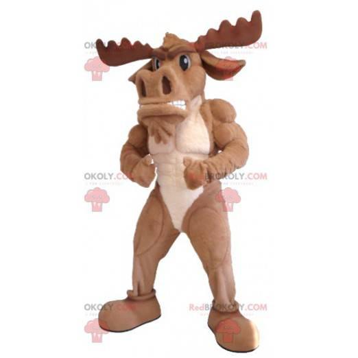 Brun caribou elk maskot - Redbrokoly.com