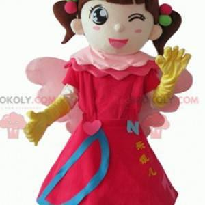 Fairy princess little girl mascot - Redbrokoly.com