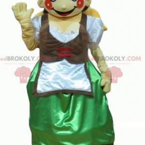 Tyrolean mascot in traditional Austrian dress - Redbrokoly.com